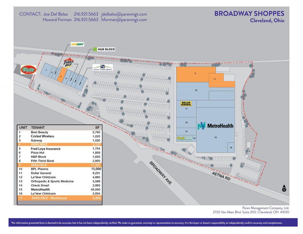 Broadway Shoppes Brochure